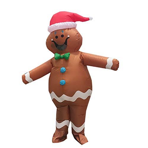 Traje Inflable, Traje De Hombre De Jengibre, Espectculo De Fiesta Unisex, Disfraz De Halloween Y Navidad Cosplay (Adulto)