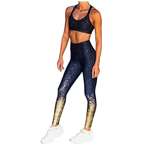 Justwide Leggings De Entrenamiento De Moda para Mujer Fitness Sports Gym Running Yoga Pantalones Atléticos(Armada,S)