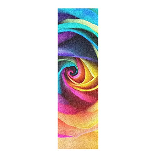 Aflyko Rose Skateboard Grip Tape Sheet Bubble Free Longboard Scooter Griptape 9' × 33'