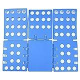 FHSFG Tablero Plegable de Plástico,Carpeta de Ropa para Adultos,Carpeta de Ropa,Tabla para Doblar Ropa,Doblador de Ropa,Tablero Plegable de Camiseta,Fácil y Rápido de Doblar La Ropa, Azul.