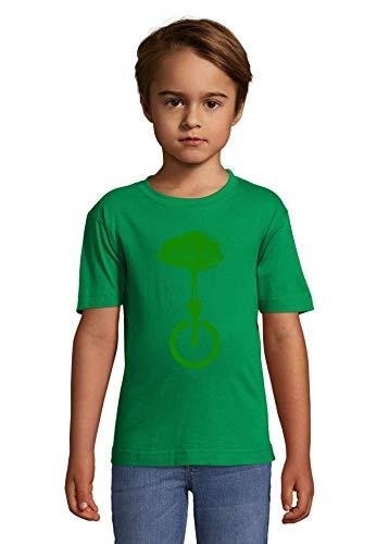 Luckyprint Dissconnect Green Nature Forest Birds Hippie Art Green Kids Colorful T-Shirt 6 Year Old (106/116cm)