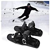 SOAR Raquetas Nieve Skiboard Mini Ski Shoes Cubiertas, Skiing Boot Patines Durables y Ajustables Correas para Pistas y descensos Parques de Nieve