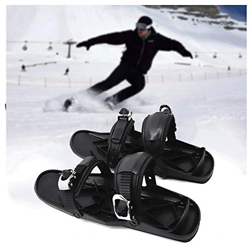 SOAR Raquetas Nieve Skiboard Mini Ski Shoes Cubiertas, Skiing Boot Patines Durables y Ajustables Correas para Pistas y descensos Parques de Nieve