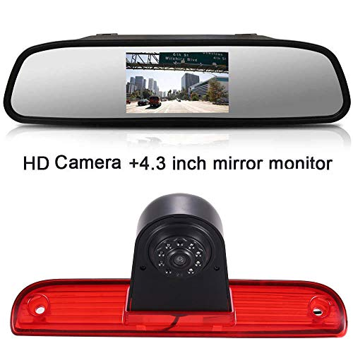 Dynavsal FIAT Ducato X250 X290 bus box/Peugeot Boxter/Citroen Jumper, HD camera + achteruitkijkspiegel.