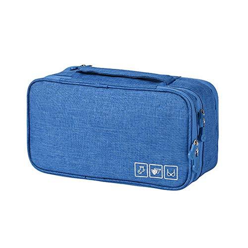 Aolvo BH-Organizer Reisetasche, Oxford-Stoff, Unterwäsche, Organizer, wasserdicht, persönliche Kleidung, Handtuch, Reisen, Make-up-Tasche für Damen, Mädchen, Mann himmelblau