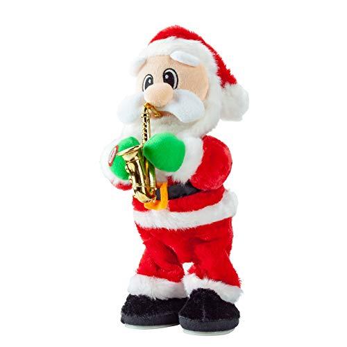 Twerking Santa Claus, Shaking Hips Singing Dancing Christmas Santa Claus Toys Wiggle Hip Blowing Saxophone Santa Claus Xmas Electric Dolls Gift