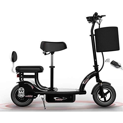 MMJC Elektro-Scooter für Erwachsene mit Sitz 24V / 350W / 14A Tretroller Big Wheel Electro Bike Max Last 100kg Commuting Motorroller geeignet