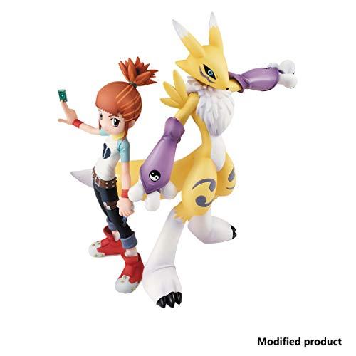 Siyushop Digimon Tamers Renamon & Ruki PVC Figur - Hochdetaillierte Skulptur - Hoch 5.9 Zoll