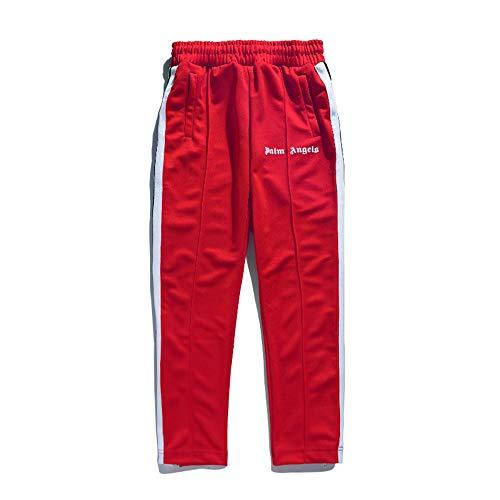 Tij merk koppels stiksels singels casual broek lente en zomer elastische taille trekkoord jogger broek, geschikt voor training, fitness, training