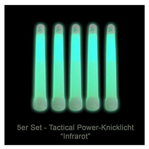 5er Set Power-Knicklichter/Leuchtstab/Knicklicht - Infrarot (IR) für Nachtsichtgeräte/Restlichtverstärker und Outdoor-Anwendungen (Militärstandard)