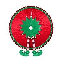 クリスマスエルフフットツリースカート3Dサンタエルフフットクリスマスオーナメントツリースタンドマット、家の装飾のための楽しい雰囲気を高める休日の装飾120cm