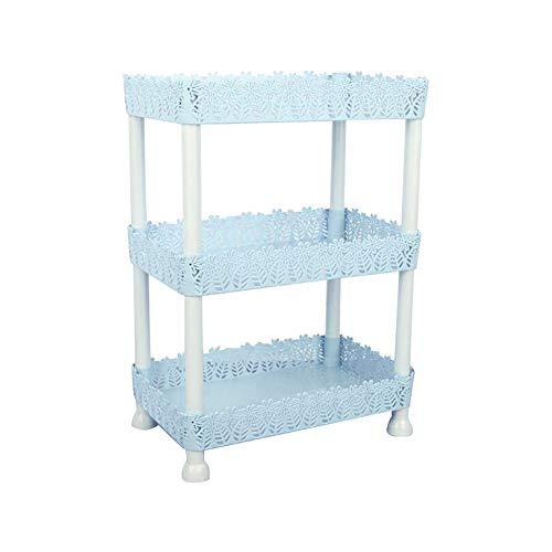 Mrinb Bathroom Shelf, 3-Tier DIY Storage Tower Rack, Bathroom Organization Shelf, for Home Kitchen Bathroom Laundry, Plastic
