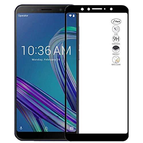 Compatible con Asus Zenfone Max Pro (M1) ZB602KL ZB601KL (5.99) X00TD Película transparente cristal cristal cristal Full Touch screen templado antigolpes 9H 5D antiarañazos pantalla (marco negro)