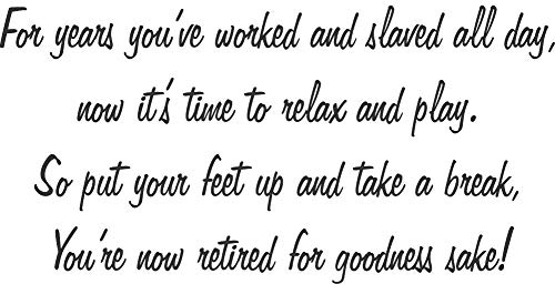 Retirement Greeting Cling Rubber Stamp by DRS Designs - Made in USA