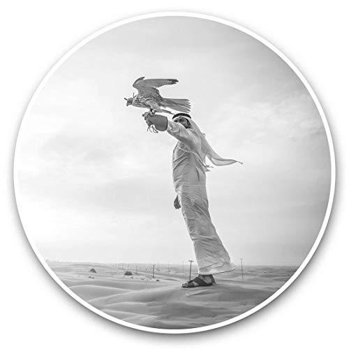 Impresionantes pegatinas de vinilo (juego de 2) 30 cm BW – árabe halcon águila manejadora de etiquetas divertidas para portátiles, tabletas, equipaje, reserva de chatarra, nevera, regalo fresc