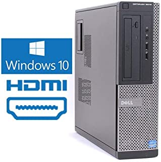 Dell Optiplex 3010 Desktop Computer Tower PC, Intel Core i5 3.1GHz, 8 GB Ram, 256 GB SSD, HDMI, WiFi, DVD-RW  Windows 10 Pro  Dual Monitor Support (Renewed)