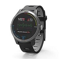 """Smart watch ECG Schermo a colori TFT 1,3"""" 240 x 240, compatibile con iOS-Android. Smartwatch con ECG Bluetooth 4.0. ECG Fitness Tracker Batteria al litio da 220 mAh, autonomia 5-7 giorni. Elettrocardiogramma, pressione sanguigna, cardiofrequenzimetro..."""