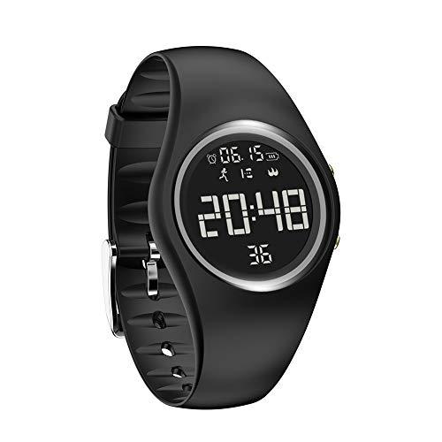 MINASAN Reloj inteligente impermeable Fitness Sport Activity Monitor de ritmo cardíaco para iOS Android (negro)