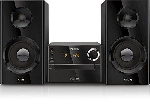 Philips BTM2185/12 Sistema de Audio para el hogar - Microcadena (Microcadena de música para Uso doméstico, Negro, 1 Discos, Bandeja, 100 W, De 2 vías)