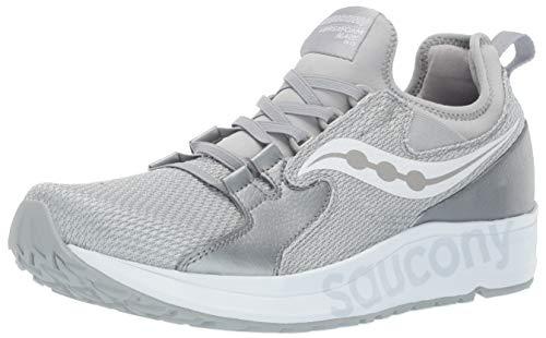 Saucony Men's Versafoam Blaze Running Shoe, Grey/White, 8