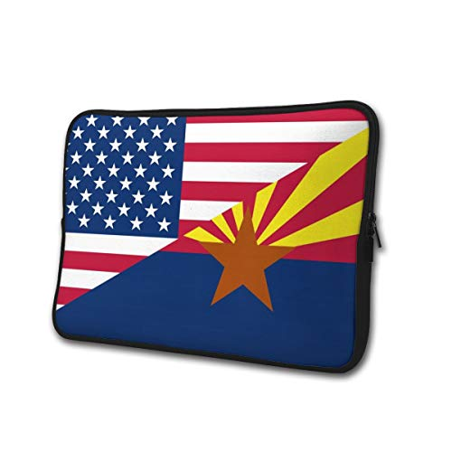 Neoprene Computer Pouch Case Flag of USA and Arizona State Fashion Laptop Sleeve Bag for 13-15' Inch Laptop Computer Designed to Fit Any Laptop/Notebook/Ultrabook/MacBook