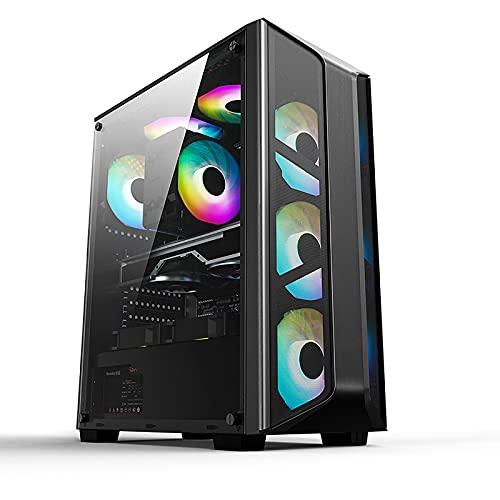 LIQIANG Caja De Ordenador Gaming Vista Lateral Completa, Paneles Laterales Acrílicos La Transmisión De Alta Velocidad Usb3.0 Admite Placas Base Grandes ATX Refrigeradas por Agua Y por Aire