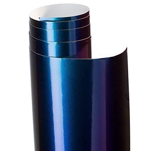 Aufkleber Folie Flip Flop grün lila metallic 100 x 62 cm partCore 3812
