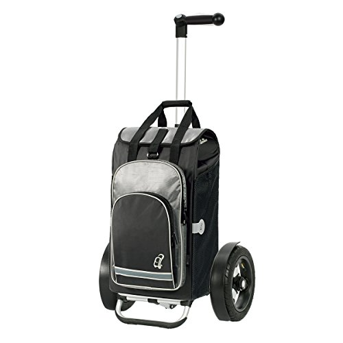 Andersen Shopper Tura mit kugelgelagertem Luftrad 29 cm und 60 Liter Tasche Hydro schwarz mit Kühlfach
