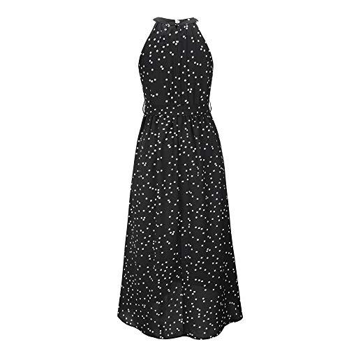Vestido de Mujer Verano Sexy Vestido señora Alta Cintura impresión Mini Vestido de Espalda sin Tirantes Vestido sin Espalda