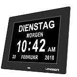 Longsea Orologio da Tavolo con Calendario Digitale Sveglia del Calendario con 8 Sveglie e ...