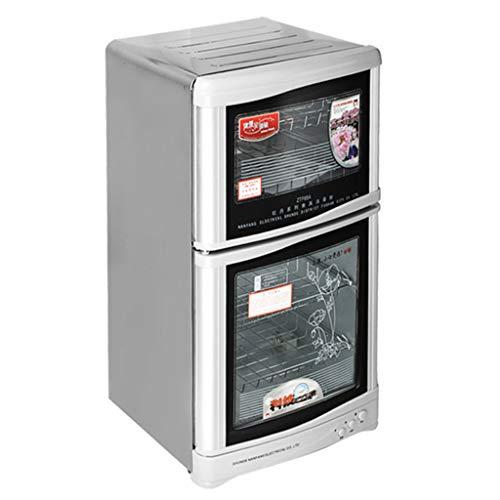 Armoire de désinfection infrarouge à l'ozone verticale Armoire de désinfection Armoire de désinfection de vaisselle professionnelle ( Color : Silver , Size : 45*38*82cm/18*15*32inch )