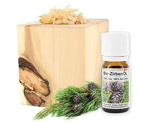 Gesundheitskissen.at ZirbenWürfel inkl. 10g Zirbenspäne + Bio Zirbenöl 10ml