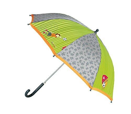 sigikid, Jungen, Regenschirm mit Fußballer, Kily Keeper, Grasgrün/Grau, 23797