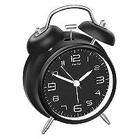 Lauter Alarm: Der Wecker ist sehr laut, auch perfekt für Tiefschläfer. Kinderleichte Bedienung mit nur zwei Tasten für die Einstellung von Uhrzeit und Alarmzeit. Geräuschlos: Kein nerviges Ticken, der schleichende Sekundenzeiger schafft ruhige Schlaf...