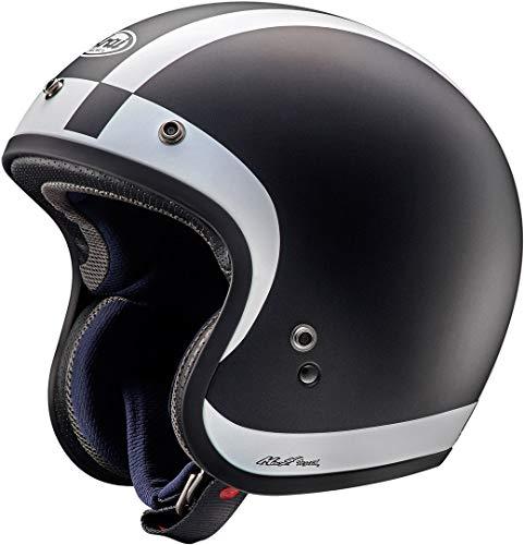 ARAI Freeway Classic Halo Negro Abierto Casco De Motocicleta