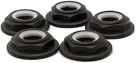 Black - M5 Aluminum Low Profile Nylon Lock Nut (CW Standard Thread)