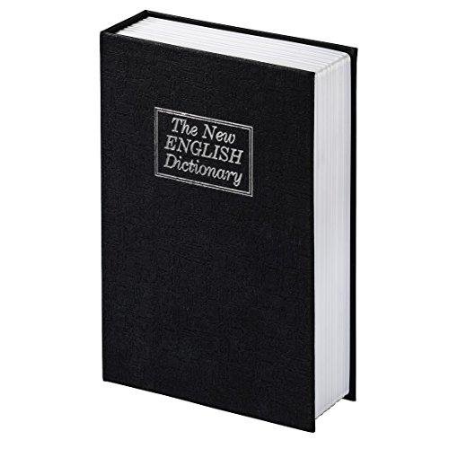 Hama Buch-Tresor (mit Schlüssel, Buchattrappe mit Geheimfach, getarnte Geldkassette, Schmuckversteck, mit 2 Schlüsseln, Buchsafe) schwarz