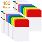 KIMCOME File Index Tabs 1 Inch Sticky Flags 480 Pcs, Colored Page Markers Self Adhesive, Repositionable Note Tabs for Documents, Books, Paper, Notebooks, Filing and Folders [24 Sets, 10 Colors]