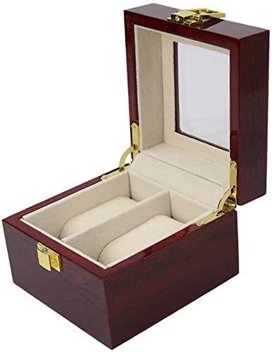 NANI Caja de Almacenamiento de Reloj, 2 Rejilla Reloj de exhibición de la joyería de Almacenamiento Caja de la Caja Pulsera organizadores de Mostrar Cuadros con los titulares de Almohadas