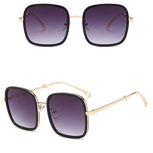 2 Stück /Rahmen Anti-Blaulicht Flachspiegel Metall Sonnenbrille Frau Street Shooting Brille Nicht Verschreibungspflichtige Linse Anti-Augenermüdung Und Kopfschmerzen
