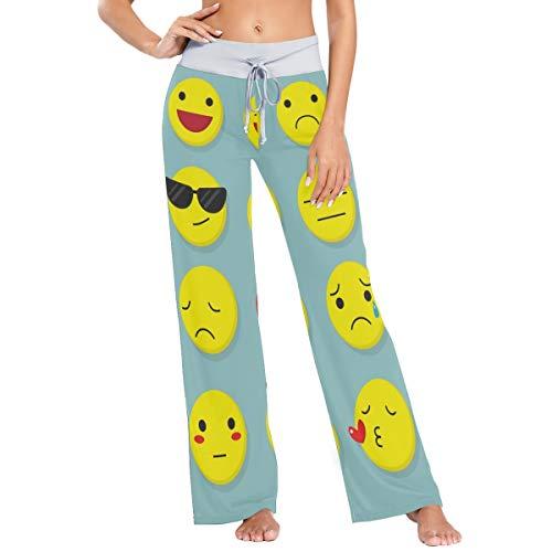 MONTOJ Pantalones de pijama para mujer de Little Emoji