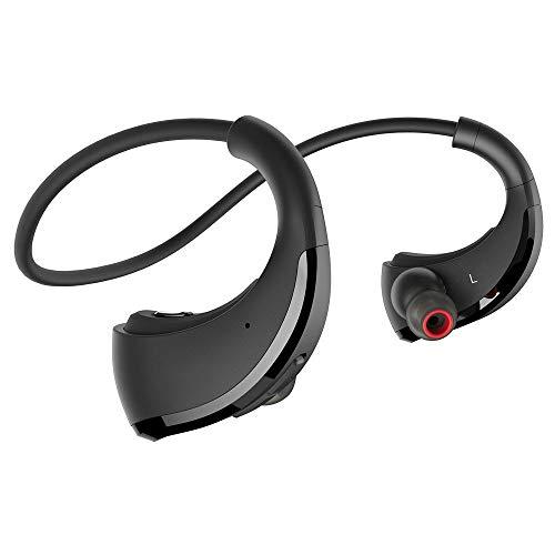 FGHT Bluetooth-Kopfhörer IPX5, wasserdicht, kabellos, Ohrbügel, Stereo-Audio mit Mikrofon