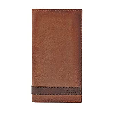 Fossil Men's Quinn Leather Executive Wallet, Brown, One Size