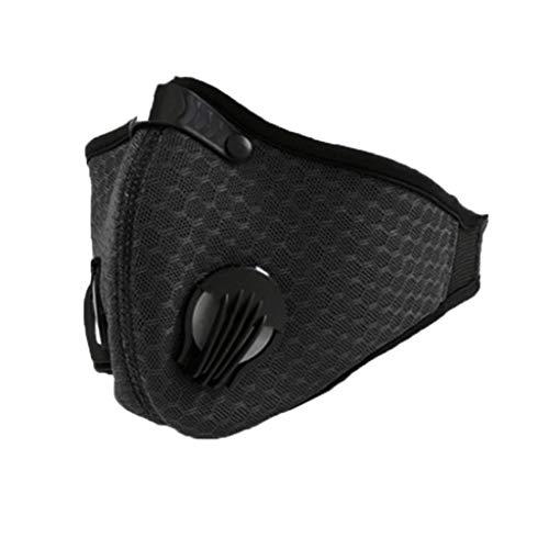 Transwen Staubmaske Gesichtsmaske Staubdicht Maske für Bauen Laufen Sport Radfahren Holzbearbeitung Mähen PM2.5 (Schwarz)