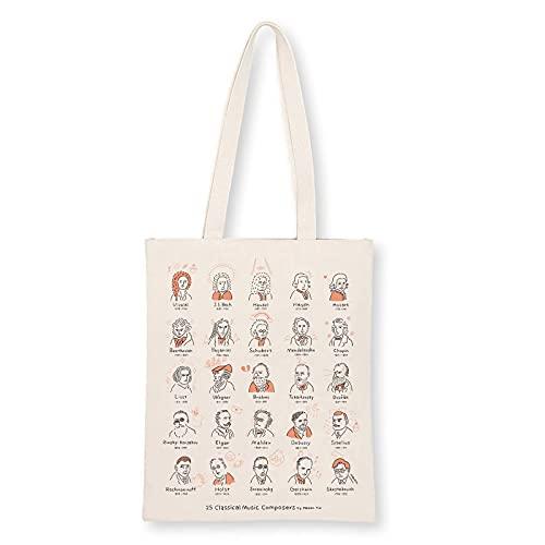 音楽トートバッグ-25人の作曲家たち 音楽雑貨