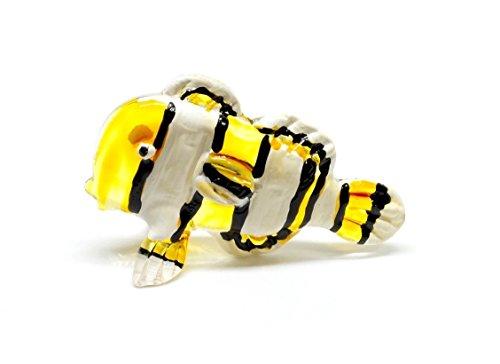 Handmade Gelb Clownfisch Fisch Art Glas geblasen Sea Tier Figur Nr. 3–Modell 2018