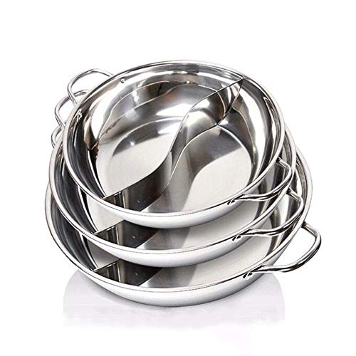 Stainless Steel Duck Hot Pot Thick Pots Cooker Special Pot Little Sheep Hot Pot Kitchen Accessories,28Cm