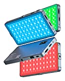 RGB Led Video Light, 4000mAh Rechargeable 360°Full Color Gamut 21 Light Effects,CRI97 3200-5600K RGB LED Video Light Panel with Aluminum Alloy Body for Camera Photography Shooting YouTube Vlog