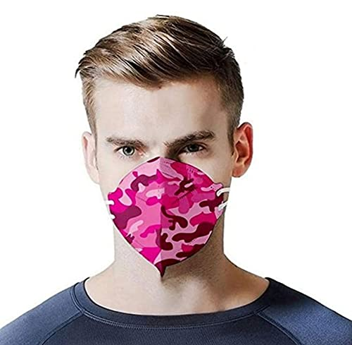 Wythe Pack of 100 Camouflage Print, Unisex, Nose Protection, Breathable, Sun Protection, Cold and Dustproof, Mask (#4)