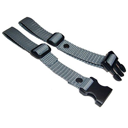 GURTIES® Brustgurt für Schulranzen Schulrucksack Rucksack universal 27 Farben (grau)